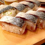 一本釣り - サバ寿司
