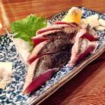 """一本釣り - 料理写真:カツオ""""塩""""たたき"""
