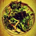 家庭料理 ことこと - クレソンとエリンギのサラダ