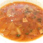 34237202 - 本日のランチ 880円 のアサリのトマトスープ