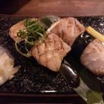 34237872 - アグー豚のあぶり寿司