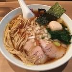 日の出製麺 - どろ玉煮干しらーめん (780円)