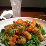 食彩にじ - 唐揚げサラダ