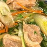 郷屋敷 - 水菜のハリハリ食感と鴨肉のしっかりした肉質の味わい〜