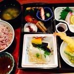 魚菜おかずいろいろ - 松花堂弁当