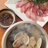 経堂カンザワ - 料理写真:絶品!蛤と昆布出汁のお魚しゃぶしゃぶ