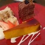 M's Cafe - 料理写真:本日のオススメ3種類のケーキ盛り合わせ(1300円)