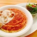 カフェティント - クルミチーズのスフレオムライス(オーダーメイドオムライス)