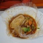 ビストロ ダイア - 金目鯛とオマール海老のカルタファタ包み 白老産桜海老の香り