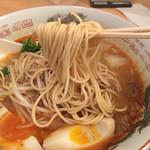 道元 - 麺はストレートにしました。