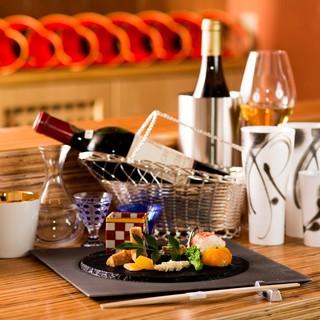 日本料理と相性の良い、こだわりのワインを種類豊富にご用意