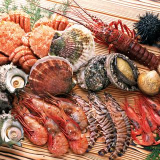 北海道から産地直送で仕入れる、北海道でしか味わえない食材たち