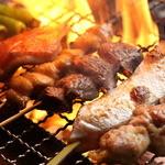 完全個室・夜景一望・美食×肉プレート 七色 - 特選 炭焼串のおまかせ8本盛り合わせ