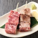 完全個室・夜景一望・美食×肉プレート 七色 - ~霜降りカルビ~(たれ・塩):牛一頭からわずかしか取れない希少部位のお肉。