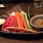 坐・和民 - 2015年1月。コースの一品目はスティック野菜。
