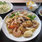 34257883 - 海鮮八宝菜定食¥1280@'14.3.中旬
