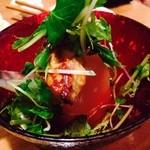 和ガリコ 寅 - 西京味噌にフォアグラを漬け込んで焼き、じっくり煮た大根と合わせた1品