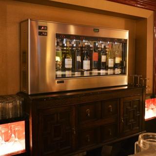 ◆東海初のワインサーバーがあるカフェ