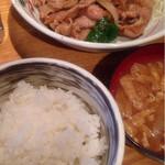 34266621 - 生姜焼き定食(750円)