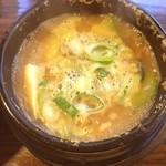 とんちんかん - 味噌チゲ定食。納豆入り。