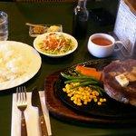 34269440 - リブロースステーキ 600g、ラージライス、ランチセット (スープ、サラダ)、合計 4665円