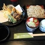 田なべ - 料理写真:おすすめの野菜天もりそば 1026円(税込み)