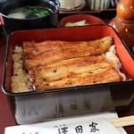 澤田家 - ランチうな重 1200円。