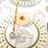 Jaman - 料理写真:小さい前菜 金時薩摩芋の冷たいスープ ウニとチーズパイのせ☆♪