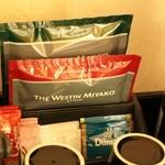 ウエスティン都ホテル京都 - 備え付けの飲み物のラインアップ