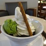 サンマルクカフェ - エスプレッソゼリーソフト抹茶アイス添え