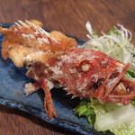 粋鮮 - 「アカカサゴ  丸揚げ」は、¥700 これもよ~く揚げてあるので、ヒレまで食べれますw