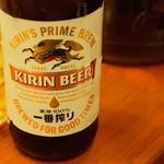 ラーメン あっぱれ - 生は発泡酒だったので、瓶ビールをオーダー。