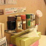 味噌乃家 - テーブルの上