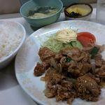 王鳳 - 豚焼肉定食 +ご飯大盛り