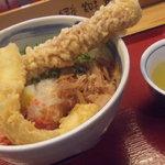 鶴丸製麺 - ぶっかけうどんに、ちくわといか天トッピング