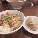 玉五郎 - (15年1月)Cセットのチャーシュー丼、水餃子(3ケ)