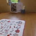 ダヤンカフェ - テーブルウェアもダヤンので、スッゴク可愛い!プリンやシフォンケーキも美味しい(*^.^*)