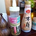 そばの坊富良野 - 老舗のそば屋は銚子のヒゲタ醤油を使う店が多い