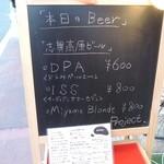 プロジェクト - 看板に本日のビールメニュー