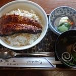 千歳家 - 料理写真:うな玉丼 お吸い物、香物付き1,500円