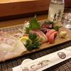 すし栄 - 料理写真:刺身&お酒