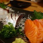 炙り処どま - 刺身3点盛¥1100
