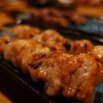 炙り処どま - モモ日向赤鶏¥210/本