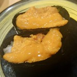 駿河湾朝獲れ回転寿司のぶちゃん - 雲丹