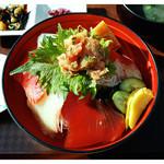 漁師のどんぶり屋 - 「海鮮丼」… 味・量ともに普通です(2015.01)
