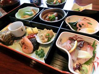 鬼の厨 しんすけ - 松花堂弁当、瀬戸内の春(倉敷ランチいただきます)