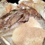 34298557 - 天然鯛の塩釜焼き(半分オープン)