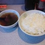 八千代軒 - ご飯・スープ