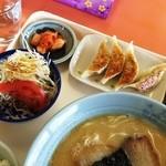 大黒屋ラーメン - ラーメン定食の餃子