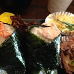 おにぎり山 - 料理写真:¥500の日替り定食(鮭&ツナマヨ)を頂きました。